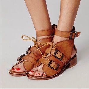 NWOT Free People Buckle Sandals